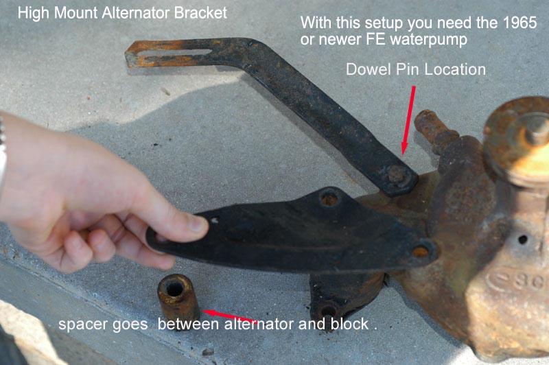 highmnt alt bracket alternator conversion schematic  at bayanpartner.co